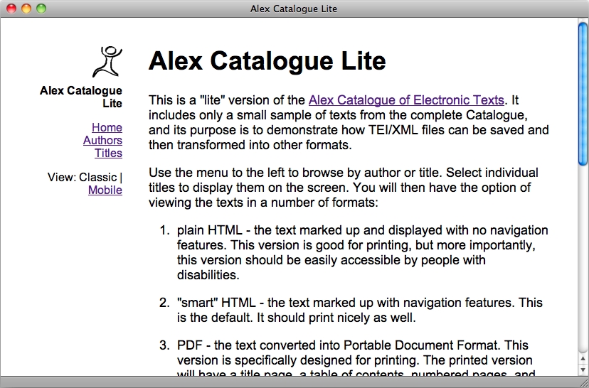 Alex LIte browser version