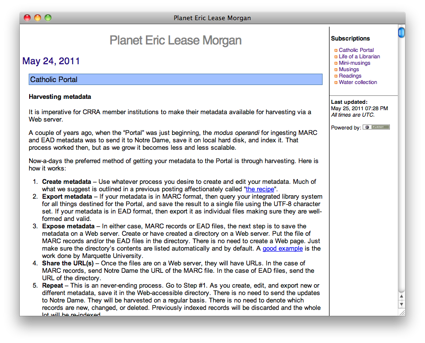 Planet Eric Lease Morgan